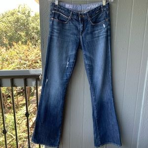 GAP 1969 Sexy Boot Destructed Distressed Jeans